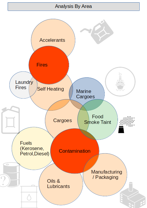 Diagram Of SMS Analytical's Business Areas